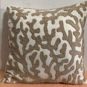 Pier 1 coral design pillow